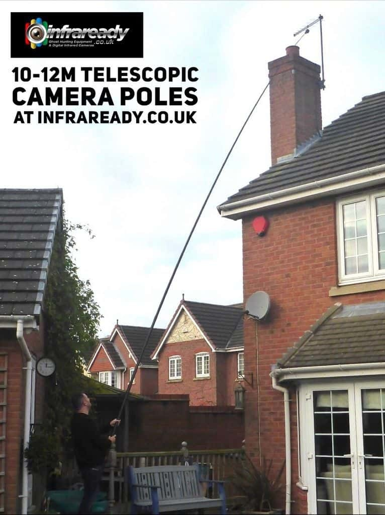 10m 12m elevated camera pole mast drone roof inspection survey aerial photography uk